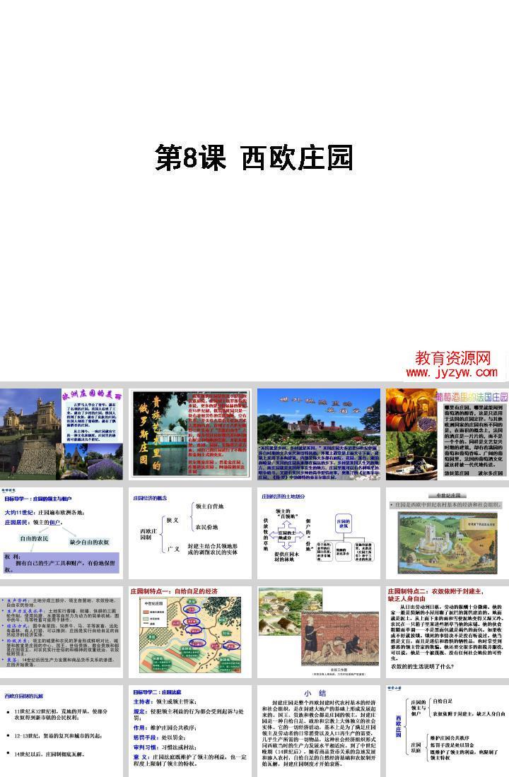 部编本新优质课「第8课西欧庄园」图片/照片1